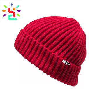 22ab6a288bb Wholesale plain beanie custom fisherman beanie men knitted hat cuff beanies  crochet winter hats
