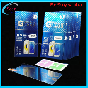 2017 2.5D 9H Mobile Phone Tempered Glass For Sony XA ultra, 0.3mm Tickness Glass For Sony Xperia XA ultra Screen Protector