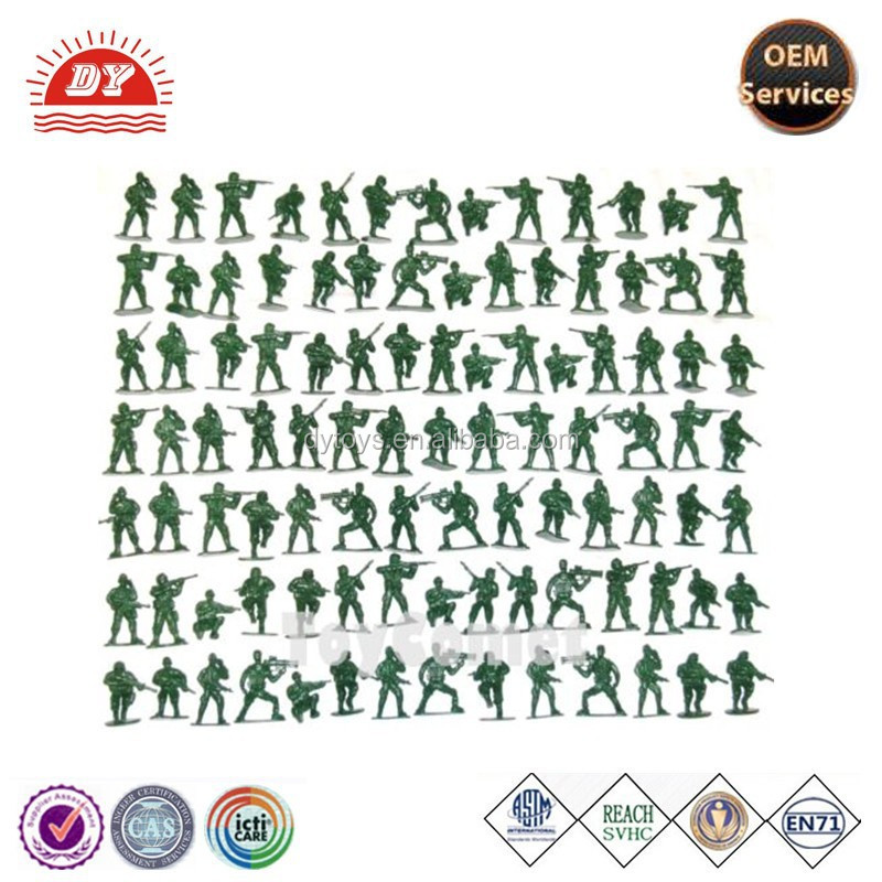 ICTI certificated make customized miniature plastic soldiers green 5cm figure army men toy
