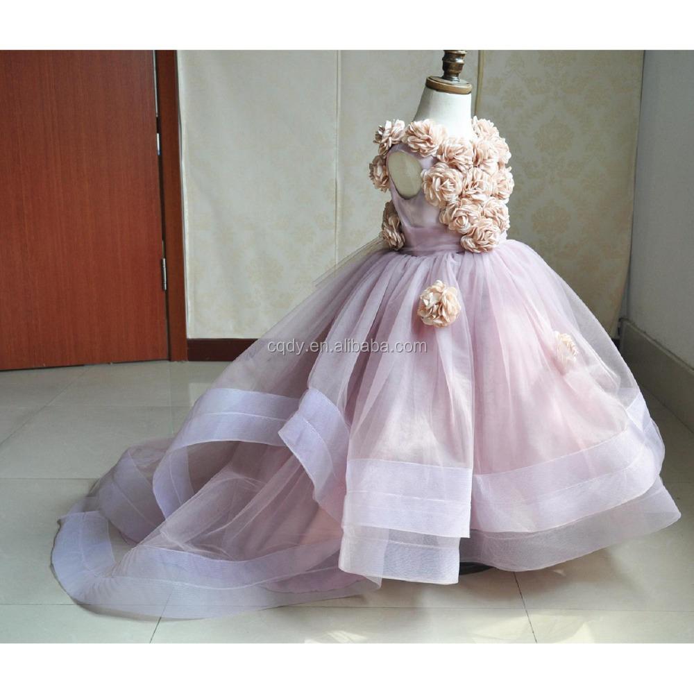 short front long back luxurious gorgeous flower girl dress