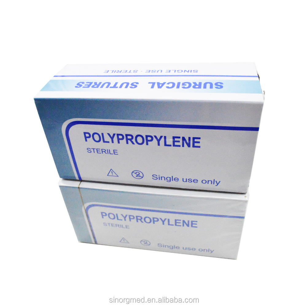 A Cutting Needle with Non-absorbable Synthetic 5/0 Polypropylene Suture