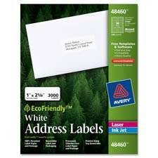 "Avery Consumer Products : Labels, Address, 3-1/3""x4"", 600/BX, White -:- Sold as 2 Packs of - 600 - / - Total of 1200 Each"