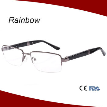 New Fashion Semi Rimless Metal Eyeglasses Optical Frames Of Picture ...