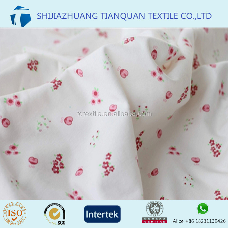 100% Cotton Printed Single Jersey Fabric Wholesale for Baby Clothes,Garment,T shirt
