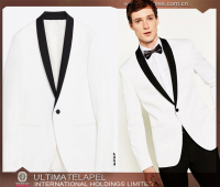 Best sale high quality white one button tuxedo made men suits