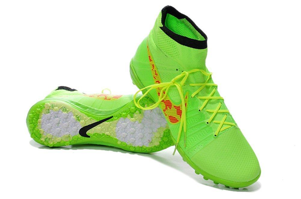 fba2d7c1d Get Quotations · MonicKruh Shoes Mens Elastico Superfly TF Green Football  Soccer Boots