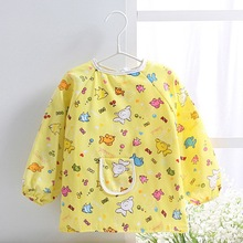 MY M L two size New 2015 Hot Cute Children Baby Toddler Waterproof Long Sleeve Art