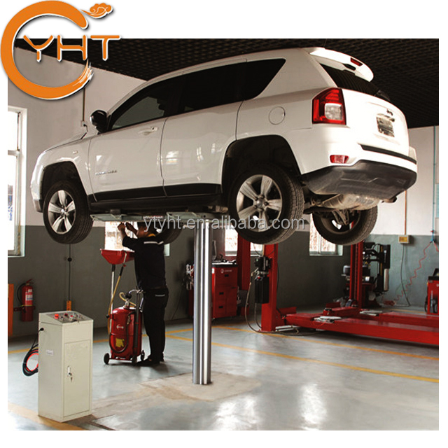 1/single post/pole/ cylinder 3500KG 220V in ground hydraulic auto home garage under ground car lift for sale