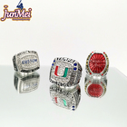 cheap design your football league silver or 18k gold big size championship ring men for teams