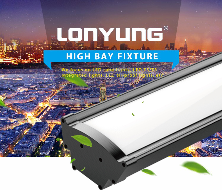 3000K 5000K 6000K Supermarket Warehouse Shopping Mall Car Parking Milky Cover LED High Bay Light 100W 125W 150W 200W