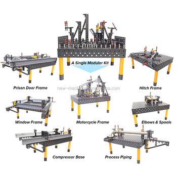 China cheap 3D welding table system with jigs&fixture