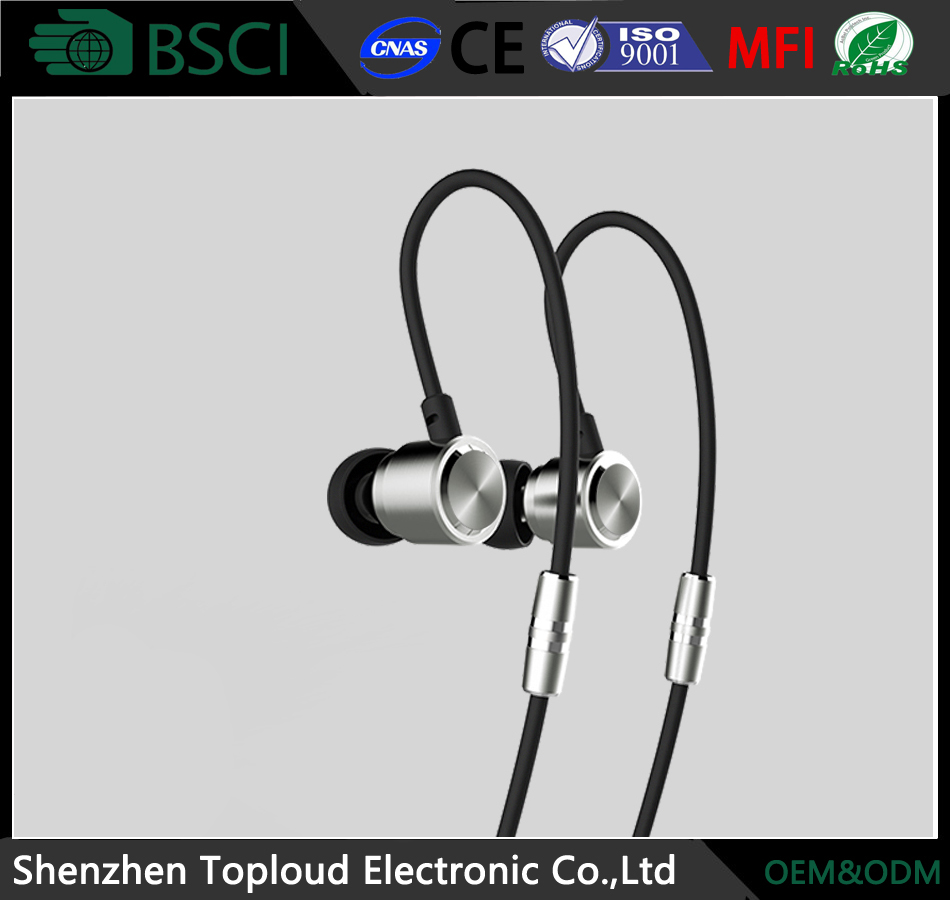 Bluetooth ear bud headset with voice control function, bluetooth earbuds sport wireless sweatproof fashion earhook headphones