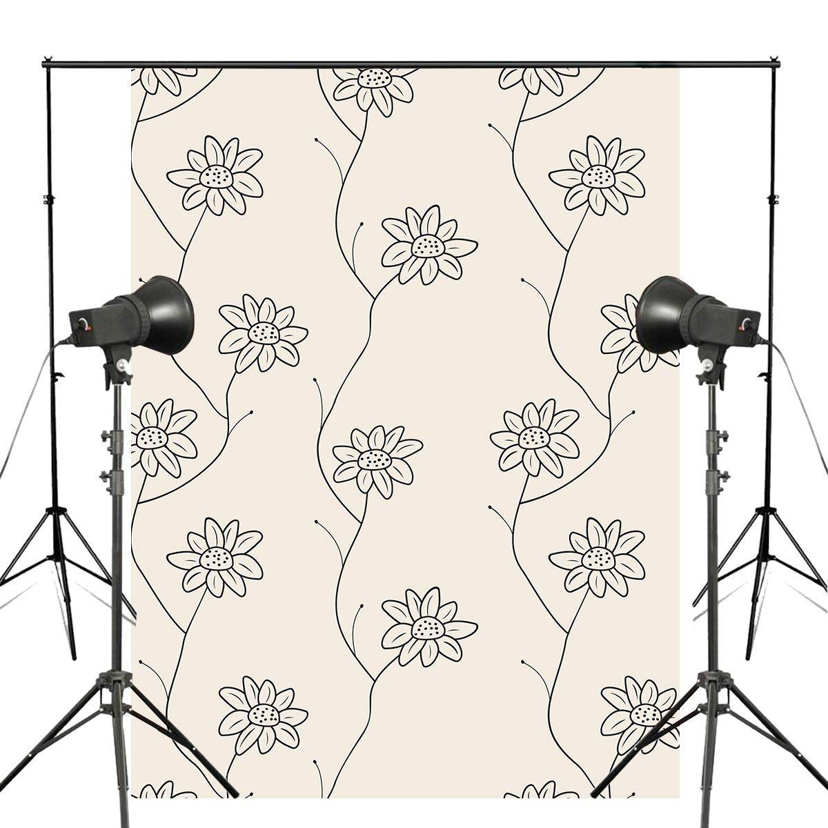 ERTIANANG 5x7ft Delicate Floral Photography Backdrop Seamless Pattern Background Plain Style Photo Studio Backdrop Wall