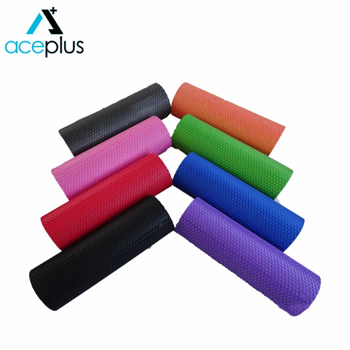 "36"" Crossfit Exercise Rubber Foam Roller with Massage Dots"