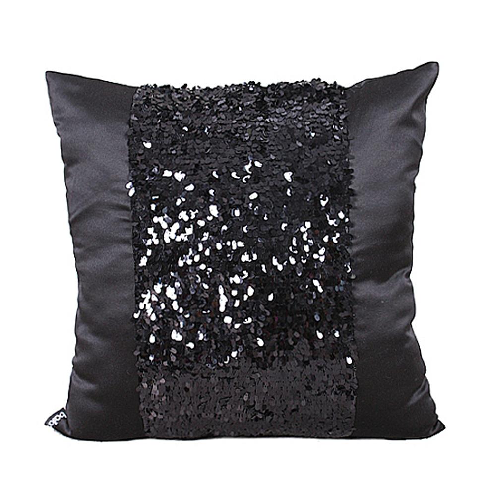 achetez en gros noir sequin oreiller en ligne des. Black Bedroom Furniture Sets. Home Design Ideas