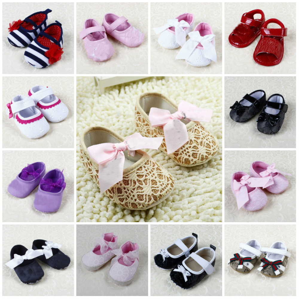 Newborn 3 15M Baby Girl Shoes First Walkers Lovely Sneakers Infant Kids Girls Princess Shoes 2016
