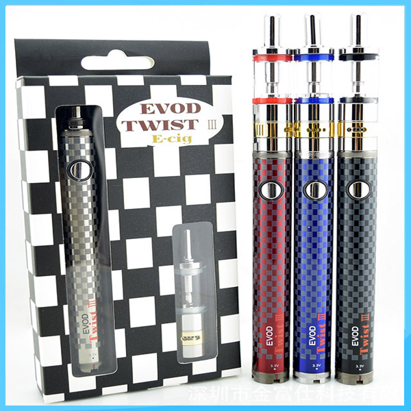 Factory price airflow control evod twist 3 m16 e cigarette