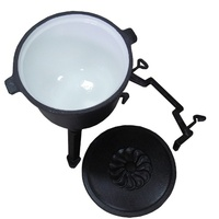 geovein 4L7L10L poland three legged cast iron potjie pot belly pot for camping cooking