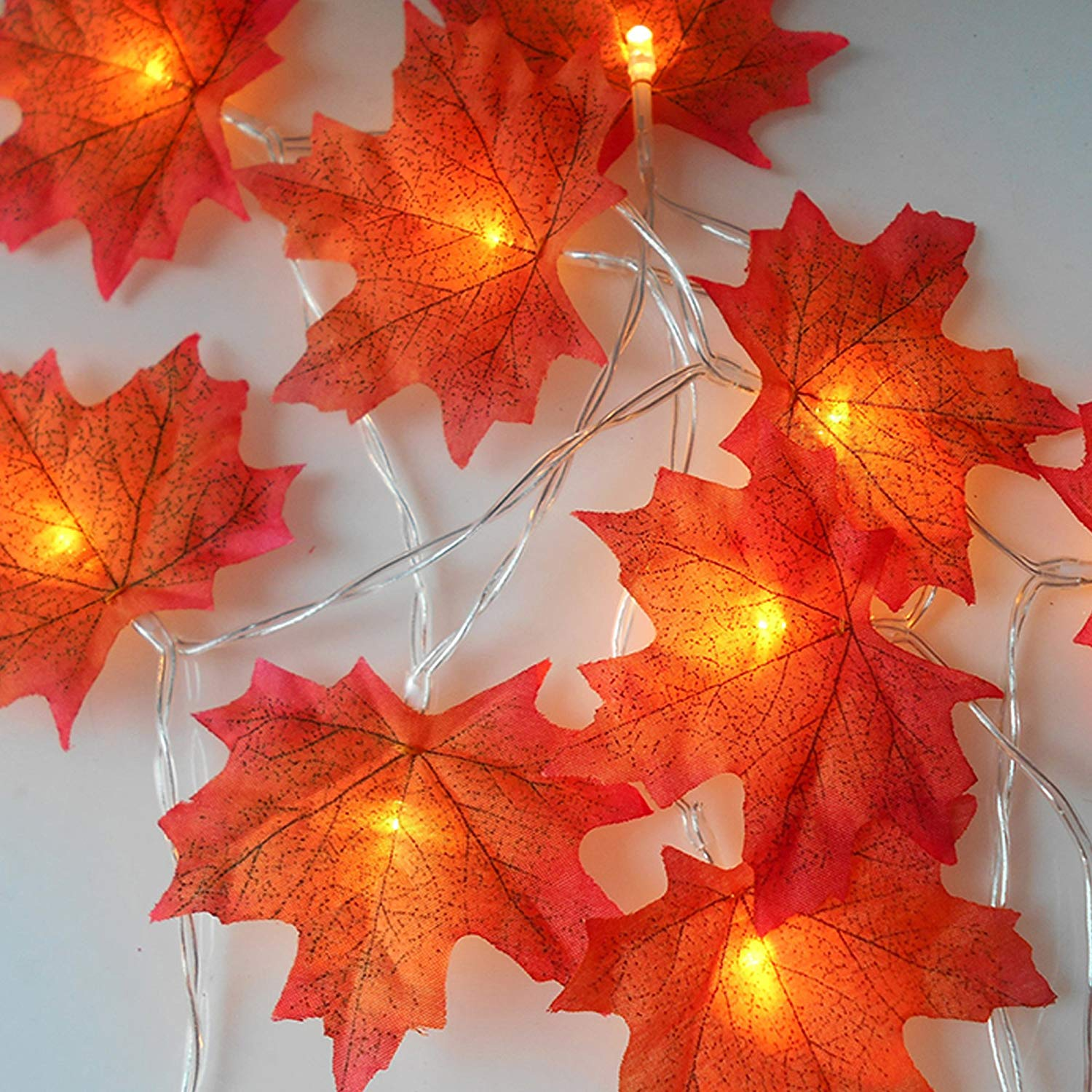 Buy 10ft 30 Led Lighted Fall Leaves Garland Fall Maple Leaves Garland Decor Autumn Fairy String Lights Battery Operated For Thanksgiving Christmas Birthday Parties Home Decor In Cheap Price On Alibaba Com