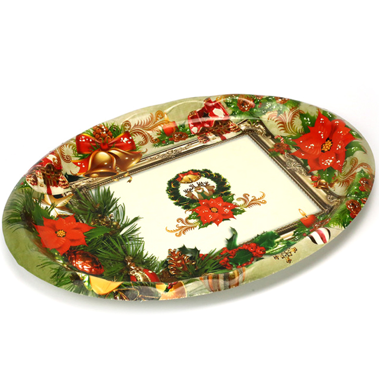 Good price orange dinnerware india wedding decoration plastic tray
