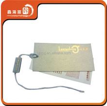 XHFJ-B-HTN11 custom gold foil garment swing hang tags