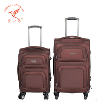 2017 new popular factory Fasional four spinner wheels 20inch 24inch 28inch 32inch travel trolley soft luggage set case suitcase
