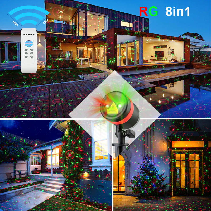 Rgb Holographic Laser Star Moving Head Home Solar Light Show Christmas Projector Lights For Outdoor Decorations