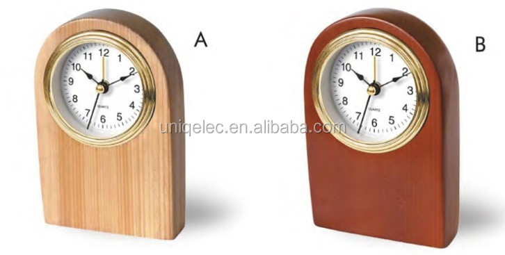 Wood table clock for home decoration
