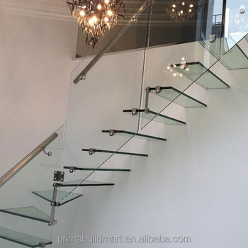 Bright Floating Gl Stairs Laminated Tempered Step Staircase All Design