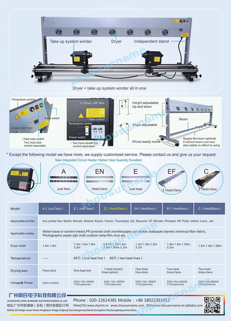 Automatische Media H3 Nemen Rollen Twee motoren voor Mutoh/Mimaki/Roland/Epson Printer-220 V
