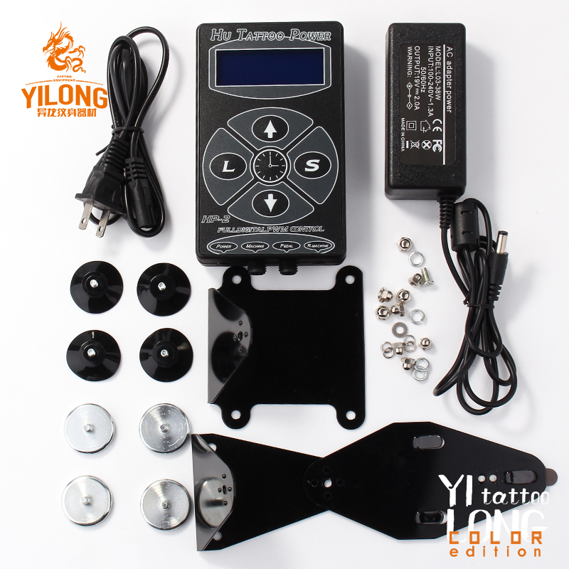 Professional Hurricane HP-2 Tattoo Machine Power Supply Dual Intelligent Digital LCD Rotary Tattoo Power Supply Kit
