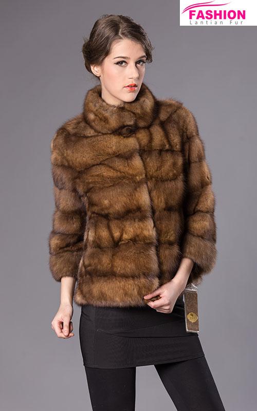 Abrigo piel de marta