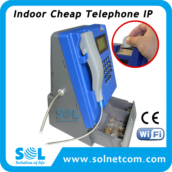Indoor Coin Operated Cheap Telephone IP