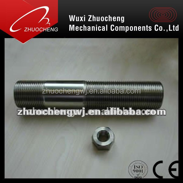 customized half thread UNC 316l stainless steel stud bolt