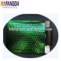 green metallic matt foil bubble envelope