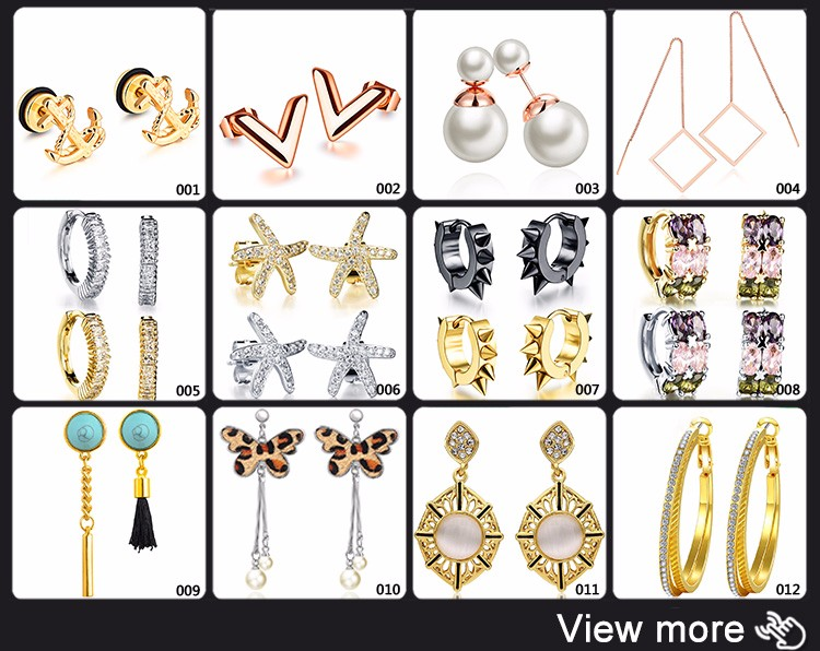 Custom Women Accessories Rose Gold Anchor Design Fashion Earring Manufacturers