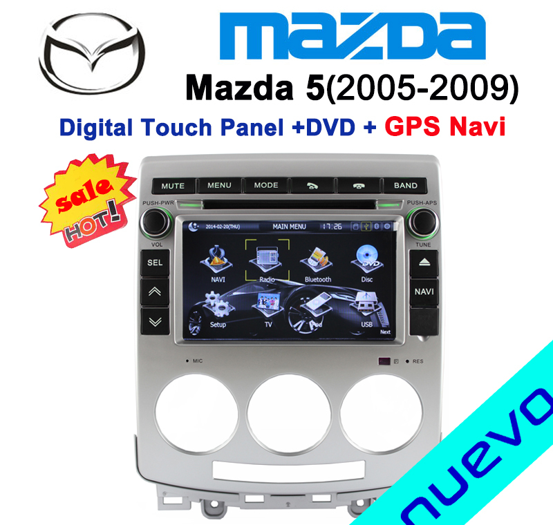 special mazda 5 car dvd player with gps navigation bluetooth radio usb tv 2005 2009. Black Bedroom Furniture Sets. Home Design Ideas