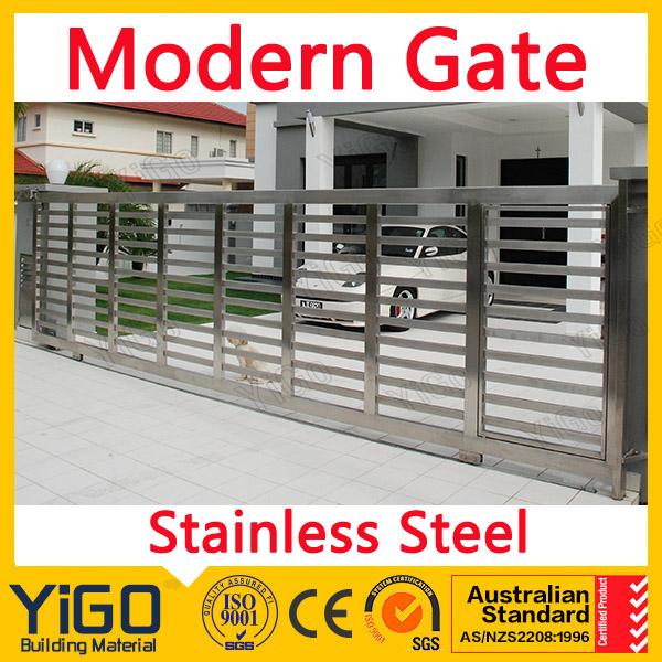 Modernas puertas y vallas de jard n piscina de acero inoxidable dise o poste de la cerca de - Vallas de acero inoxidable ...