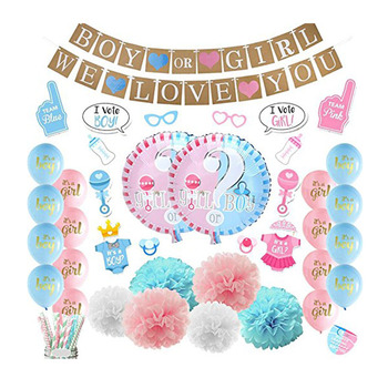 8789ec99a Gender Reveal Party Supplies Ideas Boy or Girl Balloon Baby Shower  Decoration Gender Reveal Party Decorations
