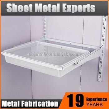 Metal Under Shelf Storage Basket,Sliding Wire Storage Basket