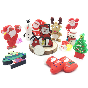 Cartoon Santa Claus USB Flash Drive Usb2.0 4GB 8GB 16GB 32GB 64GB Christmas Series Pendrive Memory Stick Pen Driver Gift