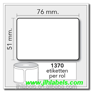 "Z-Ultimate 3000T WHITE - thermal transfer 76mm x 51mm (3""x2""),25mm core,1370 l/r TD etiketten"