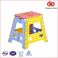 new design cheap factory wholesales cheap 100% test kids plastic folding step stool