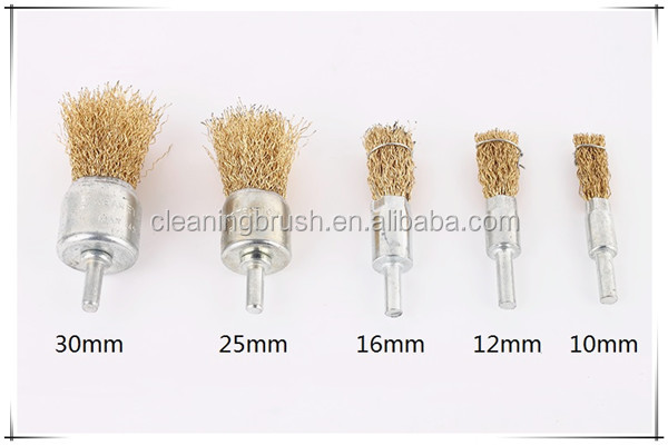 Stainlees steel wire metal end polishing brush