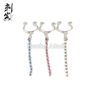 Brass Fake Nipple Rings with Adjustable Clip Non Piercing Nipple Rings