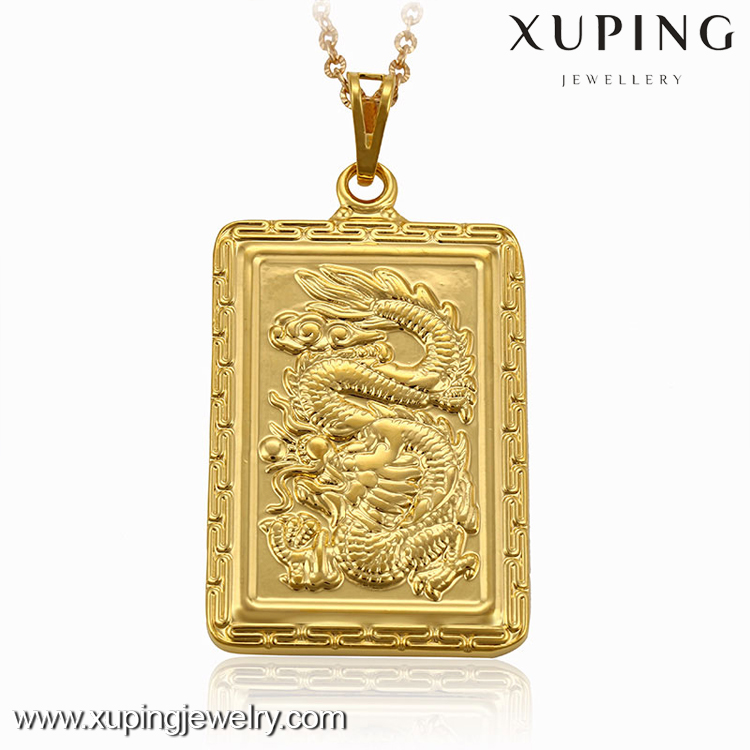 Xuping China gold 24K imitation jewels dragon style pendant for men