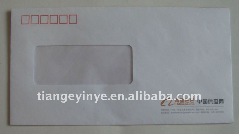 Square Paper Envelope with transparent window