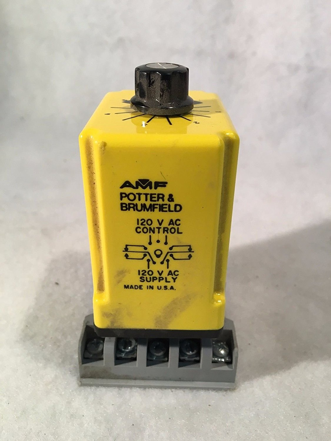 Get Quotations · AMF Potter & Brumfield 120 V AC Relay & Base