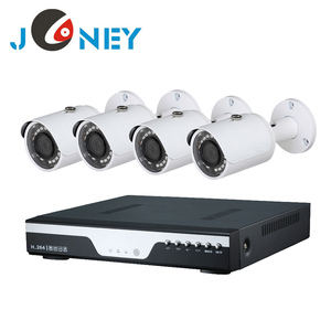 H.265 4 channel dvr kit with 4pcs high quality 1080p ahd cameras ,cables and complete system for installation