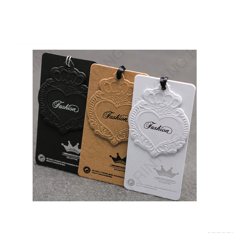 OEM Customized color wholesale custom garment clothing tags, eco-friendly customized jeans hang tag